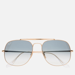 Солнцезащитные очки Ray-Ban The General Gold/Light Blue Gradient