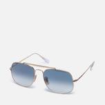 Солнцезащитные очки Ray-Ban The General Gold/Light Blue Gradient фото- 1