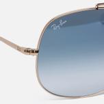 Солнцезащитные очки Ray-Ban The General Gold/Light Blue Gradient фото- 2