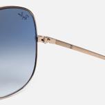 Солнцезащитные очки Ray-Ban The General Gold/Light Blue Gradient фото- 3