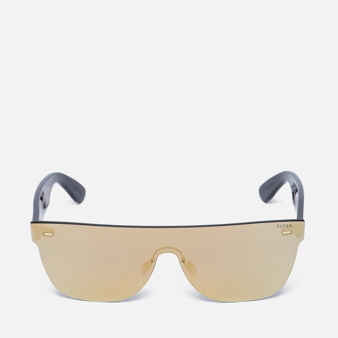 Солнцезащитные очки RETROSUPERFUTURE Tuttolente Screen Flat Top Gold