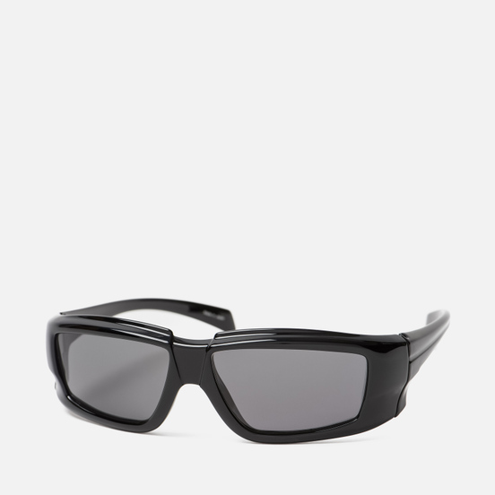 Солнцезащитные очки Rick Owens Rick Black Temple/Black Lens