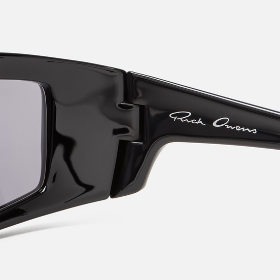 Солнцезащитные очки Rick Owens Rick Black Temple/Silver Lens