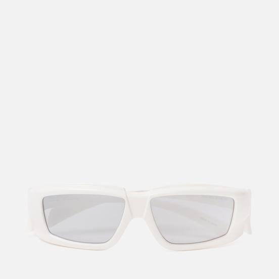 Солнцезащитные очки Rick Owens Rick Cream Temple/Silver Lens