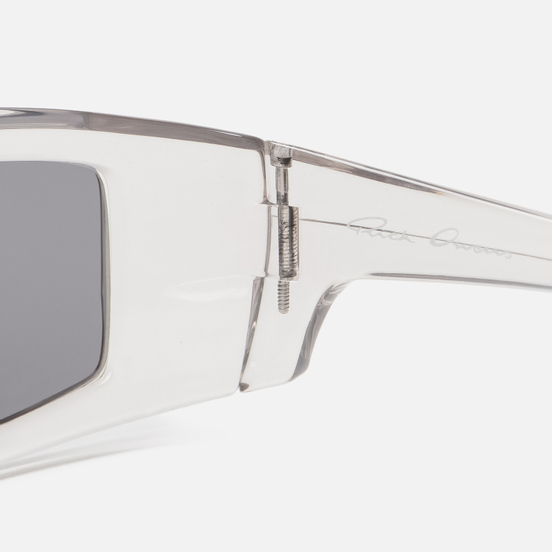Солнцезащитные очки Rick Owens Rick Transparent Temple/Black Lens