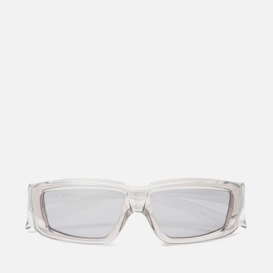 Солнцезащитные очки Rick Owens Rick Transparent Temple/Silver Lens