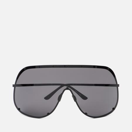 Солнцезащитные очки Rick Owens Shield Black Temple/Black Lens