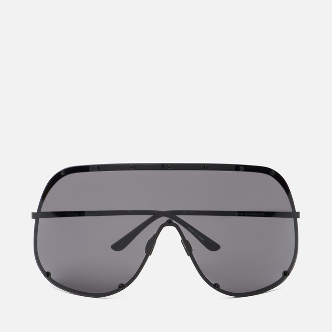 Солнцезащитные очки Rick Owens Shield Black Temple/Black Lens