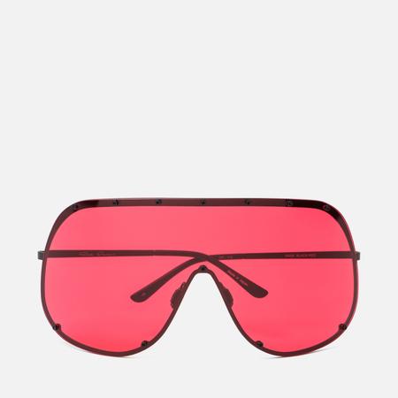 Солнцезащитные очки Rick Owens Shield Black Temple/Red Lens