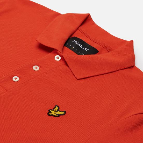 Мужское поло Lyle & Scott Plain Regular Fit Burnt Orange