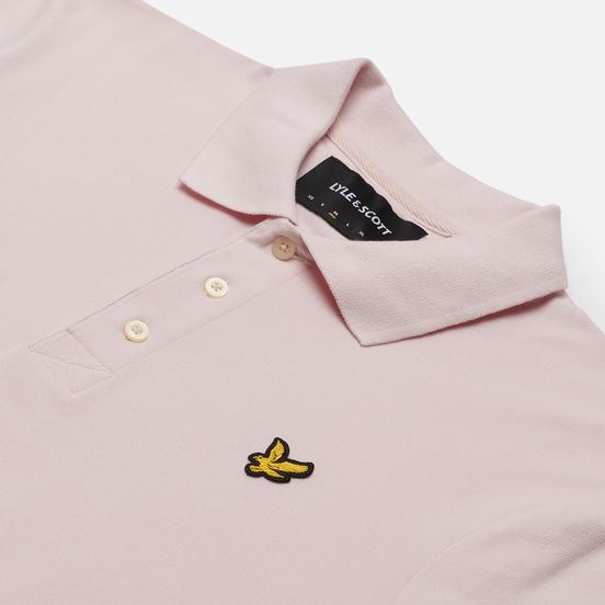 Мужское поло Lyle & Scott Plain Regular Fit Stonewash Pink