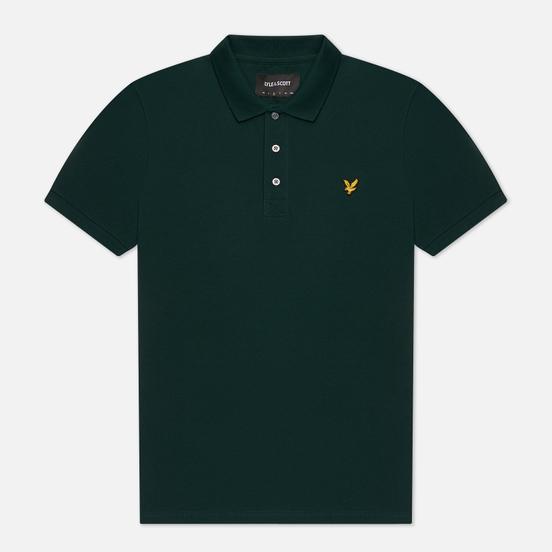 Мужское поло Lyle & Scott Plain Pique Jersey Regular Fit Jade Green
