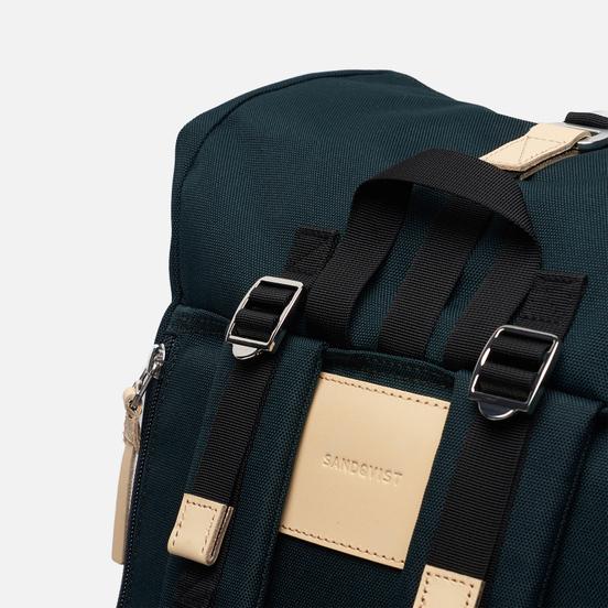 Рюкзак Sandqvist Bernt Dark Green/Natural Leather
