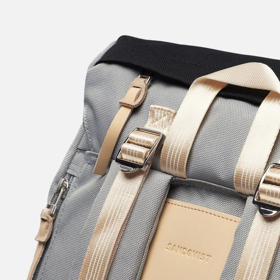 Рюкзак Sandqvist Harald 21L Multi Grey/Black/Natural Leather
