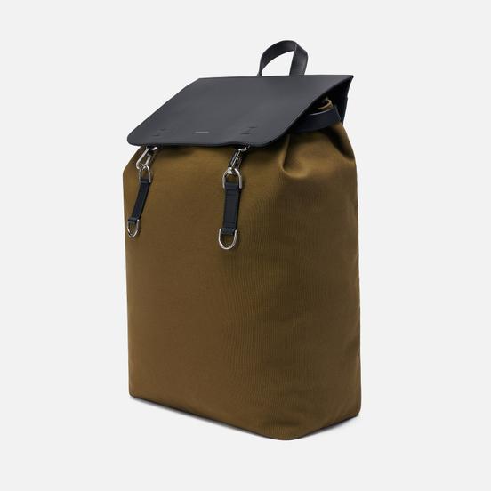 Рюкзак Sandqvist Hege Metal Hook Olive/Black Leather