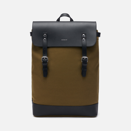 Рюкзак Sandqvist Hege Olive/Black Leather