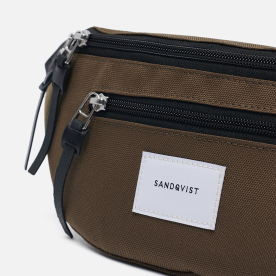 Сумка на пояс Sandqvist Aste Olive/Black Leather
