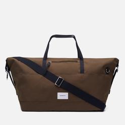 Дорожная сумка Sandqvist Milton Olive/Black Leather