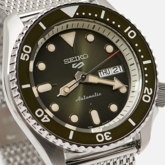 Наручные часы Seiko SRPD75K1S Seiko 5 Sports Silver/Green/Green