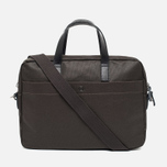 Ally Capellino Robin Canvas Bag Dark Brown photo- 3
