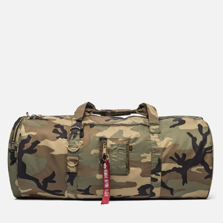 Сумка Alpha Industries Flight Duffel Woodland Camo