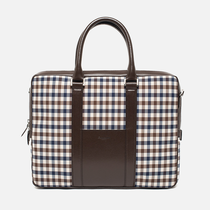 Сумка Aquascutum Lap Top Club Check Brown