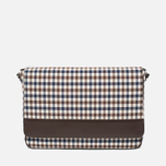 Aquascutum Messenger Bag Club Check Brown photo- 0