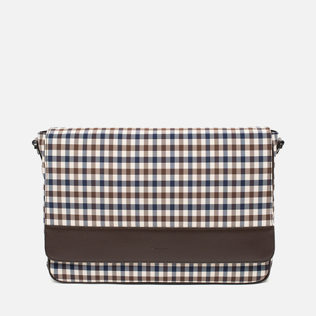 Сумка Aquascutum Messenger Club Check Brown