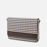 Aquascutum Messenger Bag Club Check Brown photo- 1
