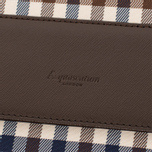 Aquascutum Messenger Bag Club Check Brown photo- 5