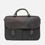 Сумка Barbour Wax Leather Briefcase Olive фото- 0