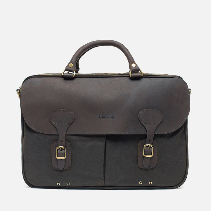 Сумка Barbour Wax Leather Briefcase Olive