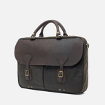 Сумка Barbour Wax Leather Briefcase Olive фото- 1