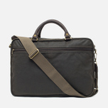 Сумка Barbour Wax Leather Briefcase Olive фото- 3
