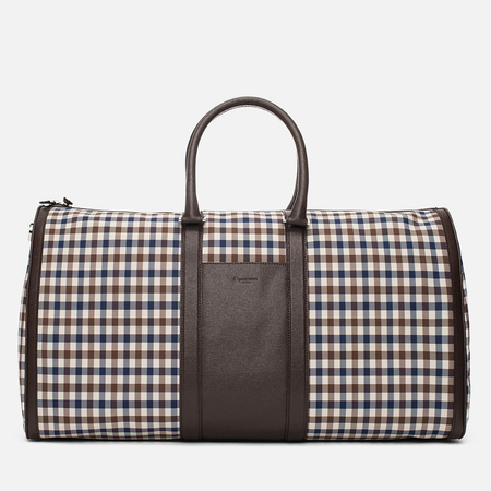 Дорожная сумка Aquascutum Holdall Club Check Brown