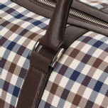 Дорожная сумка Aquascutum Holdall Club Check Brown фото- 6