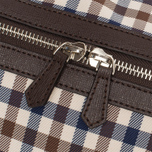 Дорожная сумка Aquascutum Holdall Club Check Brown фото- 5