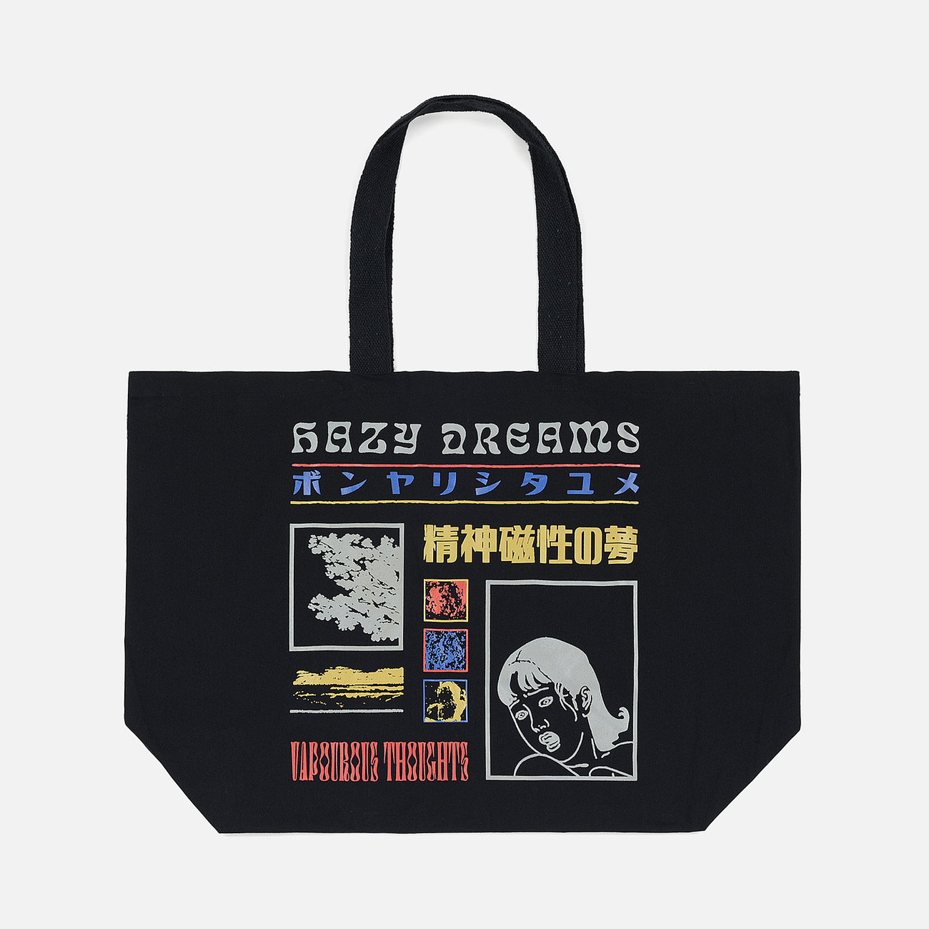 Сумка Edwin Logo Tote Oversized Hazy Dreams Black