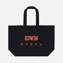Сумка Edwin Logo Tote Oversized Hazy Dreams Black фото- 2