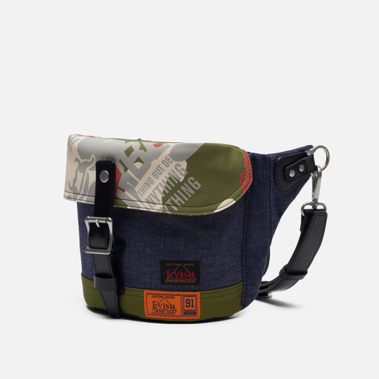 Сумка Evisu Evergreen Fabric Blocking Camouflage Denim Shoulder Indigo/Camo