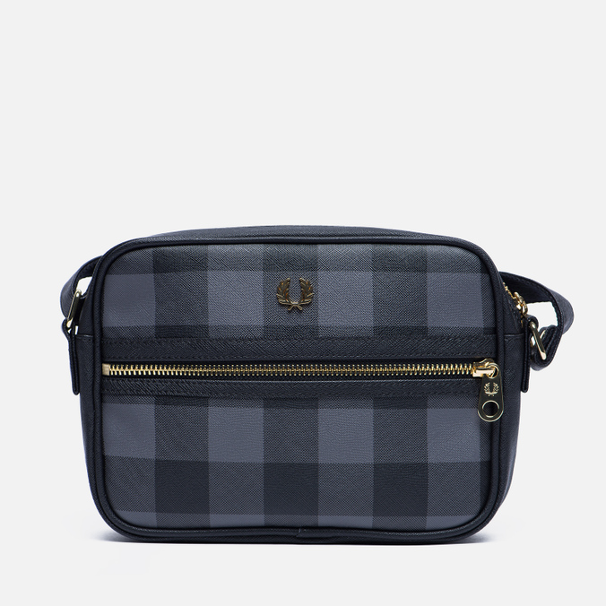 Женская сумка Fred Perry Gingham Shoulder Grey/Black