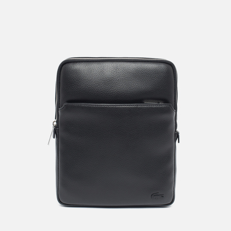 Lacoste Gael Large Flat Crossover Bag Black