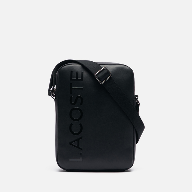 Сумка Lacoste L.12.12 Signature Leather Cross Body Black