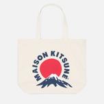 Сумка Maison Kitsune Mont Fuji Ecru/Navy фото- 0