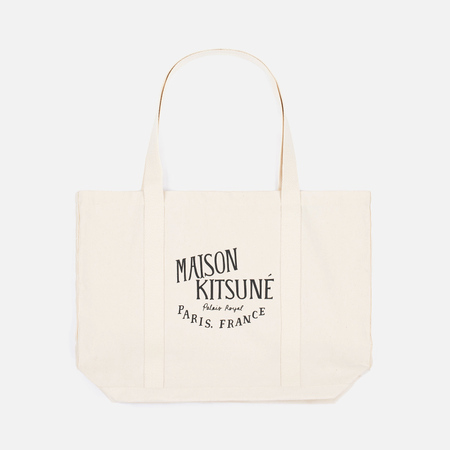 Maison Kitsune Palais Royal Bag Ecru/Black