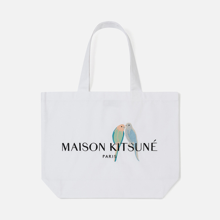 Сумка Maison Kitsune Tote Love Birds White