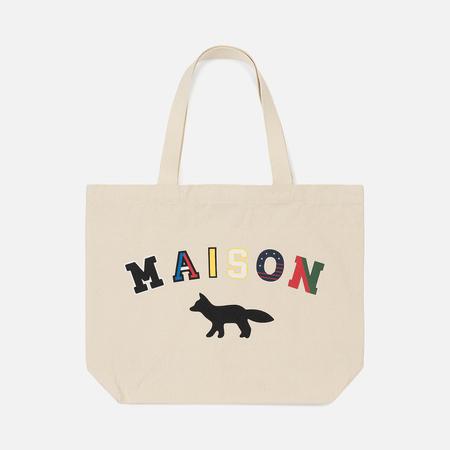 Сумка Maison Kitsune Tote Maison Fox Ecru