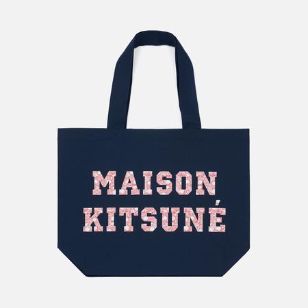 Сумка Maison Kitsune Tote Pixel Navy