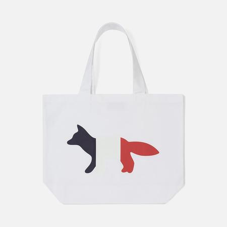 Сумка Maison Kitsune Tote Tricolor Fox White