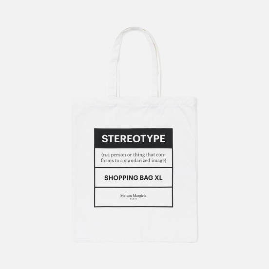 Сумка Maison Margiela 11 Logo Shopping Tote White